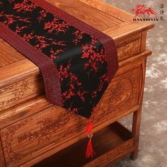 Brocade Home Decor gorgeous oriental brocade table runner chinese fortune symbol