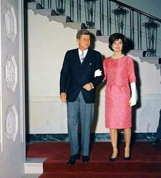 President and Mrs. Kennedy....