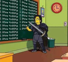 Simpsons John Snow edition...my 2 favorite shows! #got #simpsons