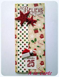 pochette cadeau pour Noël (fermeture par velcro) : Cadeau de remerciement par sylviealacarte