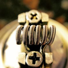 Spaced fused #Clapton on #kangertech #subtank mini rba .4 ohm 28 gauge #n80 core wires and 36 gauge #n60 #Clapton wire #twistedmesses #vape #vapeon #vappixx #vapeporn #coilporn #clapton #wireporn #wicking #buildporn #kansascity #kangertech #subohm #ohmboyoc @twistedmesses #Padgram