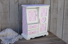 Jewelry Box  Jewelry Armoire Shabby Chic by TheVintageArtistry, $109.00