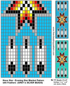 Bead Loom Sioux Star Chart