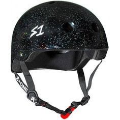 Lifer Black Gloss Glitter Roller Derby BMX Longboard Skateboard Helmet Size Extra Large * You can get additional details at the image link. (This is an affiliate link) Roller Derby, Rio Roller, Quad Roller Skates, Roller Skating, Bmx Helmets, Riding Helmets, Style Moto, Skateboard Helmet, Skate Shop