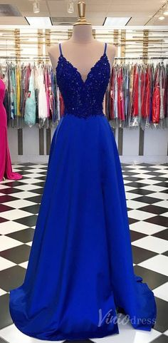 Royal Blue Spaghetti Straps Lace V Neck Long Slit Prom Dress, Evening Dress from Sweetheart Dress Royal Blue Spaghetti Straps Lace V Neck Long Slit Prom Dress, Evening Dress from Sweetheart Dress <br> Blue Lace Prom Dress, Royal Blue Prom Dresses, Straps Prom Dresses, A Line Prom Dresses, Grad Dresses, Homecoming Dresses, Dress Prom, Sexy Dresses, Royal Blue Evening Gown