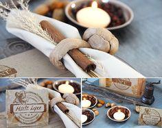 Detalles de decoración para las mesas de boda en Otoño