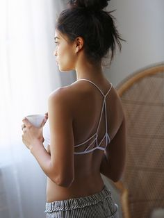 $20 Intimately Prism Strappy Bra at Free People Clothing Boutique #white