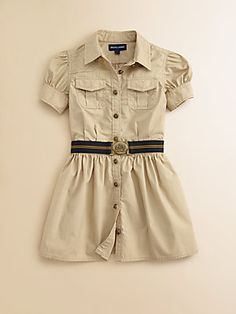 Ralph Lauren Toddler's & Little Girl's Poplin Shirtdress