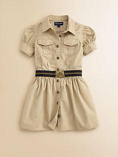 Ralph Lauren Toddler's & Little Girl's Poplin Shirtdress
