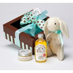 Handmade Bunny Baby Gift Box from Buttercup Naturals