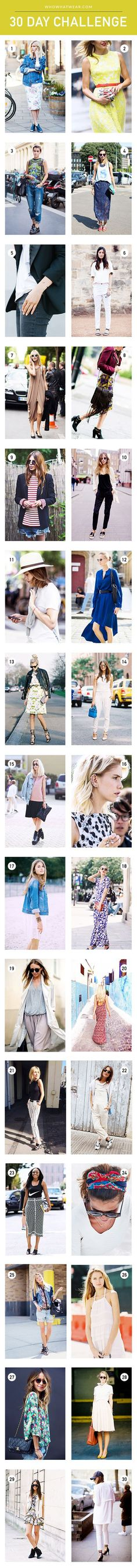 30 different outfit ideas to try over 30 days this summer, via @WhoWhatWear #WWWSummer30 // #StreetStyle #Outfits #OOTD #LOTD