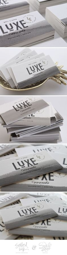 Luxe Events Business Card collaboration with Swell Press Paper.