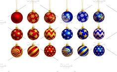 christmas balls isolated. Objects. $9.00