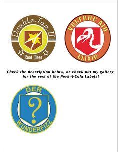 Perk-A-Cola Machine Logos by TBoneCaputo