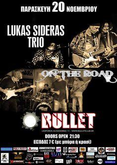 Lukas Sideras Trio @ Bullet (20/11/2015)