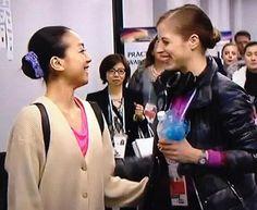Mao Asada & Carolina Kostner