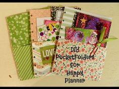 DIY Pocket Folder for Happy Planner - YouTube
