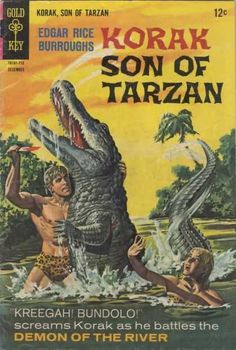 This is a Korak Son of Tarzan comic book from December A very nice comic book for that age. A few spine stress wich breaks color. Corner bends/folds which breaks color. Tarzan, Pulp Fiction Art, Pulp Art, Science Fiction, Vintage Comic Books, Vintage Comics, Star Wars Poster, Star Wars Art, Star Trek