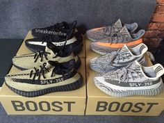 533f9f65ca5566 Yeezy Boost 350 V2 with 4 Colorways on Foot Review  Kanyewest  yeezyforsale   yeezy