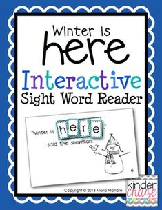 """Winter is Here"" Interactive Sight Word Reader, only $1"