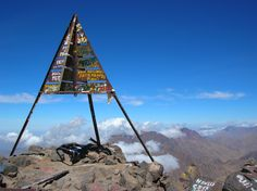 Summit of Jebel Toubkal, Morocco. Summited in 2010.