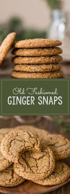 I love these Old Fashioned Ginger Snaps, with their sparkling sugary exterior, crisp edge and slightly chewy center!