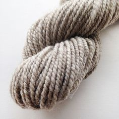 Handspun Yarn  Light Grey Swaledale  Undyed Handspun by Artyfibres