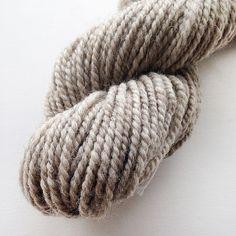 Handspun Yarn  Light Grey Swaledale  Undyed Handspun by Artyfibres