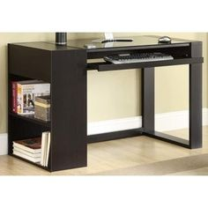 Found it at Wayfair - Afton Computer Desk Computer Desk With Shelves, Computer Desks For Home, Big Desk, Desk Shelves, Home Desk, Home Office Desks, Computer Tables, Small Computer, Shelf