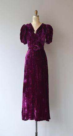 Intermezzo Seide samt Kleid Jahrgang der 1930er von DearGolden