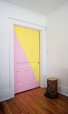 Pink and yellow door