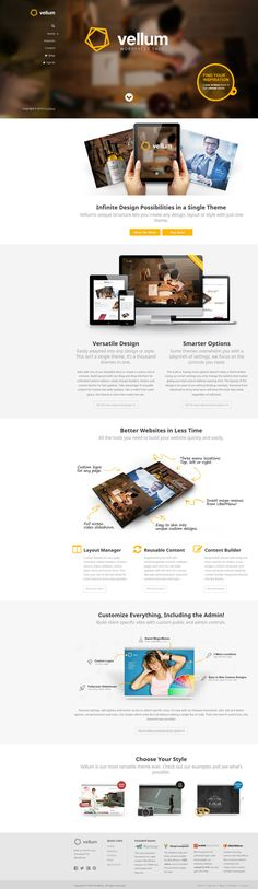 Vellum Unique Business and Versatile Theme. #wordpress #webdesign