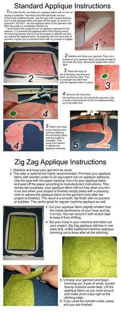 Standard instruction for applique
