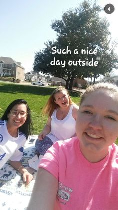 Outside with friends