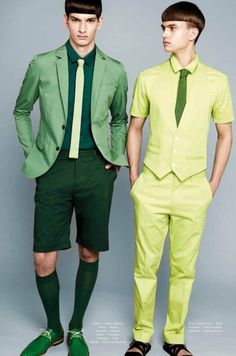 2 green & lime menswear  via letmyinspirationflow.tumblr.com