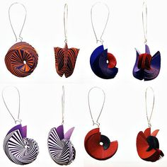 Sculpted Paper Earrings by Jason Chart-Davies