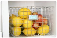 Store fruit in a basket in the pantry instead of cluttering the counter with a fruit bowl.