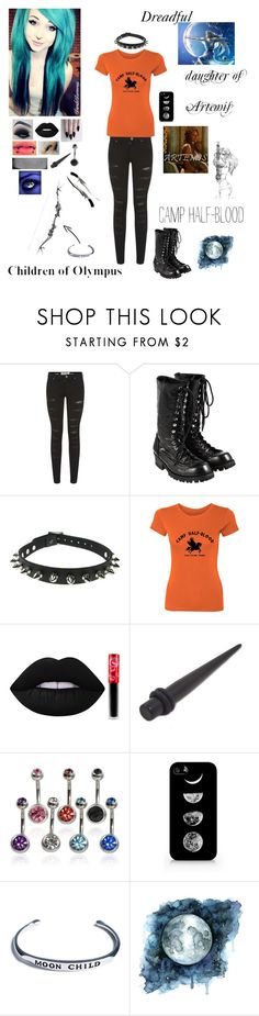 """""""me in camp half-blood"""" by dreadful-glassheart ❤ liked on Polyvore featuring Parisian, Comme des Garçons, CO, Lime Crime, GET LOST, Samsung, Shop Dixi and Camp"""