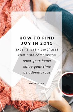 Creative Biz: How to find joy in 2015  Linea Mae