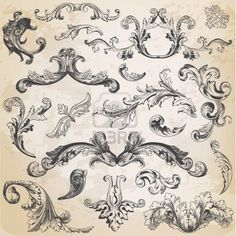 Illustration of Vector Set: Calligraphic Design Elements and Page Decoration, Vintage Frame collection with Flowers vector art, clipart and stock vectors. Page Decoration, Free Art Prints, Future Tattoos, Skin Art, Architectural Elements, Vintage Frames, Vector Art, Image Vector, Design Elements