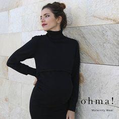 Sencillamente maravilloso... #vestidolactancia #vestidopremama #premama #embarazada #embarazo #ropaparaembarazadas #ropapremama #modapremama #modaparaembarazadas #pregnant #pregnancy #vestidonegro #ohmabarcelona #ohma #black #negro