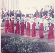 Kappa Xi Chapter of Delta Sigma Theta Sorority, Inc. – Charter members perform during their Chartering Probate Show – Spring 1973