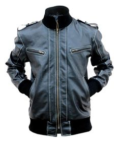 NWT Black w/ Quilted Lining Premium Genuine Pure Real Leather Jacket