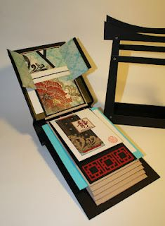 The Paper Trail: Serenity Asian Garden Gate Mini Album Papel Scrapbook, Handmade Scrapbook, Mini Scrapbook Albums, Mini Albums, Scrapbooking, Scrapbook Layouts, Asian Cards, Creative Journal, Creative Things