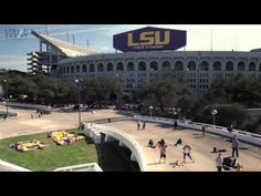 A huge #LSU Harlem Shake in the shadows of Tiger Stadium. It's like a cross between a rave and a tailgate party. #harlemshake