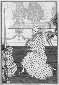 "The Athenaeum - The Baron's Prayer, from ""The Rape of the Lock"" (Aubrey Beardsley - )"