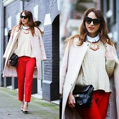 Barbarela Jewelry Necklace, Proenza Schouler Bag, Valentino Heels, Zara Trousers, Sheinside Sweater - Yesterday - Virgit Canaz