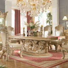 You must see this marvelous dining room with luxury furniture to help you improve your house decor! See more clicking on the image. Round Dining Room Sets, Formal Dining Tables, Modern Dining Table, Design Furniture, Luxury Furniture, Royal Furniture, Victorian Furniture, Furniture Chairs, Living Room Colors