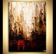 ORIGINAL Abstract City Painting Modern Palette by OsnatFineArt, $600.00
