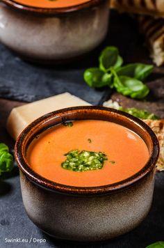 Vegan Potato Soup, Vegan Butternut Squash Soup, Vegan Pumpkin Soup, Creamy Pumpkin Soup, Zucchini Soup, Pesto, Vegan French Onion Soup, Lean Meals, Good Food